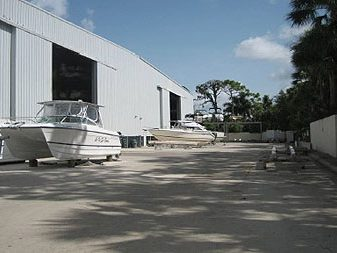 exterior view of boat storage