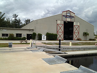 exterior view of boat storage house