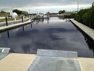view of waterway at marina