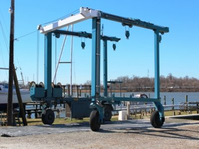 equipment in boat yard