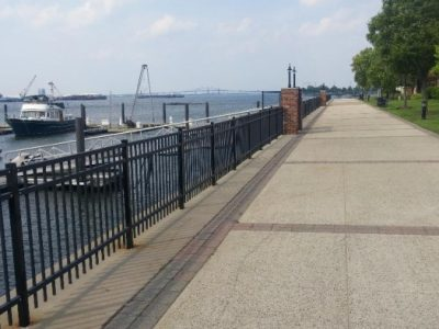 view of waterway from sidewalk