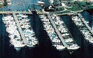 Ariel view of marina