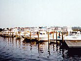 boats in a marina slip