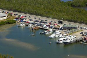 Aerial view of Fort Myers marina