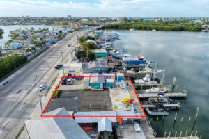 Fort Myers Beach marina aerial view