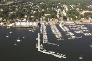 Thamesport Marina, aerial view